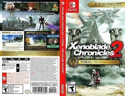 Nintendo Switch Replacement box - Case - Xenoblade Chronicles 2 Torna The Golde