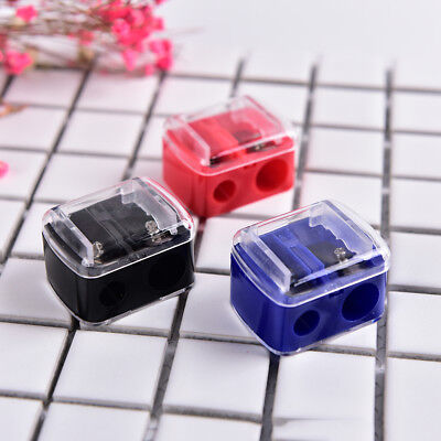 Precision Cosmetic Pencil 2 Holes Sharpener for Eyebrow Lip Liner Eyeliner  IU