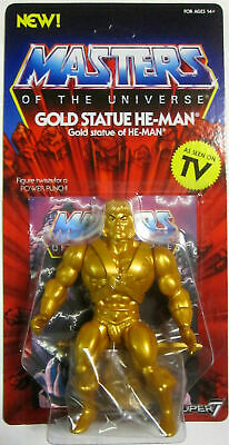 Masters of the Universe Retro Style Figure Gold Statue He-Man Super 7