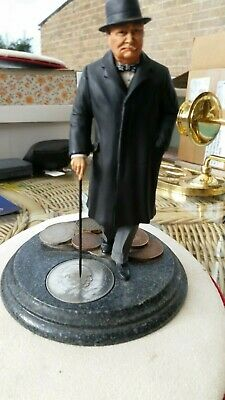 Royal Mint Winston Churchill Figurine With Coins