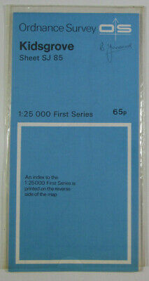 1974 Old Vintage OS Ordnance Survey 1:25000 First Series Map SJ 85 Kidsgrove