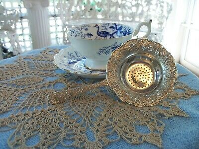 Sterling Silver Tea Strainer S. Kirk & Son Inc. Repousse