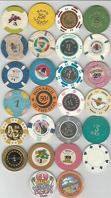 Lot of 26 Different Casino Chips Tokens Las Vega - Aruba - San Juan - AC NJ