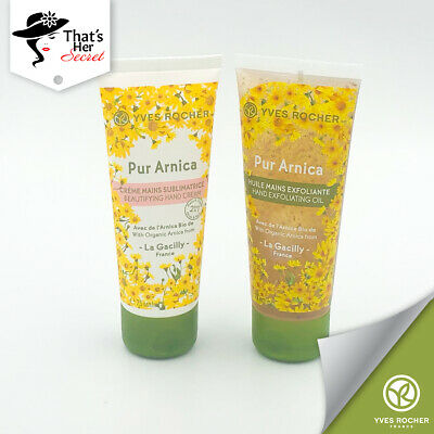Yves Rocher Pur Arnica Beautifying Hand Care Set Oil + Cream