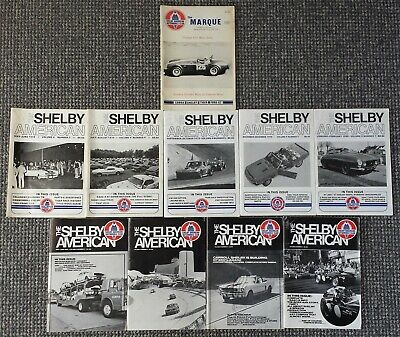 SAAC 10 x Shelby American Automobile Club Magazine The Shelby American