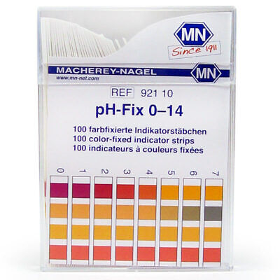 Macherey-Nagel pH-Fix Test Strips, 0-14. Pk/100