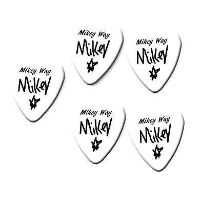 Gerard Way My Chemical Romance Gold print Guitar Pick Plectrum necklace Badge WB