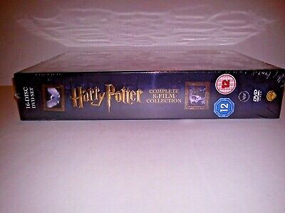 Harry Potter DVD 8 Film Collection Box Set with Embossed Cover