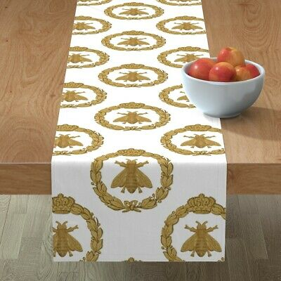 Table Runner Napoleon French Bee Antique Gilt Classic Gold Cotton Sateen