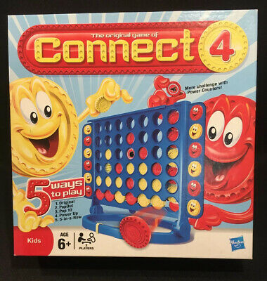 Hasbro Kids Gaming Classic Connect 4 Classic Grid Complete 5 Games In 1