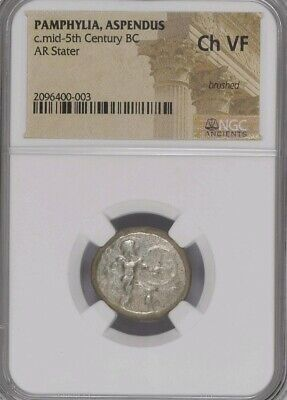 Pamphylia Aspendus Hoplite Stater NGC Choice VF ancient silver coin