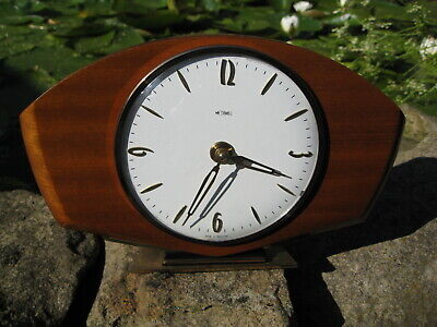 Late Art Deco 1950s Mantle clock by Metamec, 8 Day wind up, Superb condition