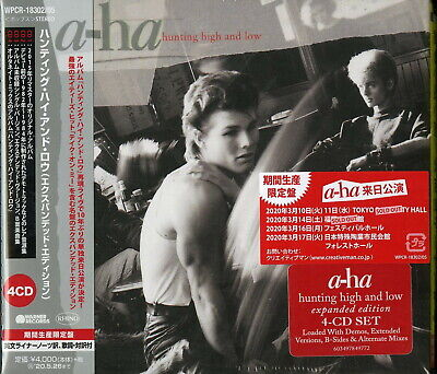 A-Ha-Hunting Alta e Low-Import 4 CD con Giappone Obi Ltd / ed J50