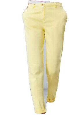 Joules Womens Hesford Chinos Trousers in LEMON Size 10
