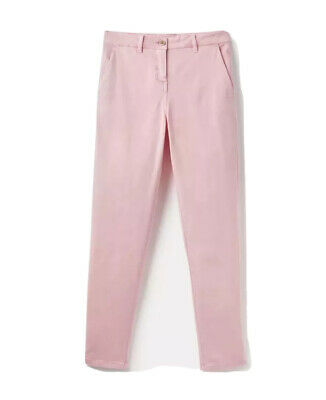 Joules Womens Hesford Chinos Trousers in PALE PINK Size 6