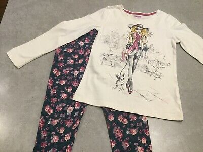 Girls Top & Leggings Outfit Size 7-8 years VGC