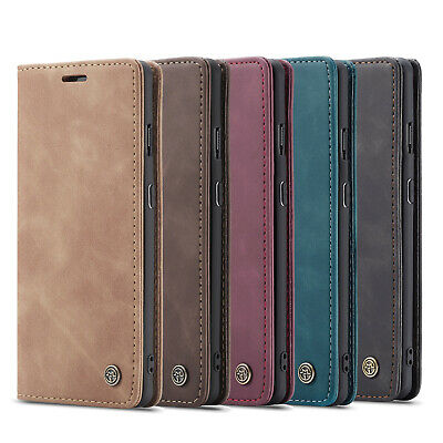For iPhone 11 Pro Max Samsung S20 Luxury Caseme Leather Flip Wallet Stand Cover