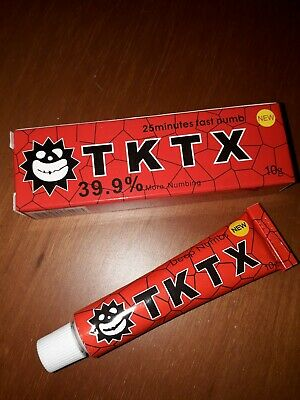 Tktx red 39 9%, new cream tattoo anaesthetic