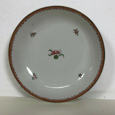 18th C Chinese Export Porcelain Plate Low Shallow Bowl Saucer