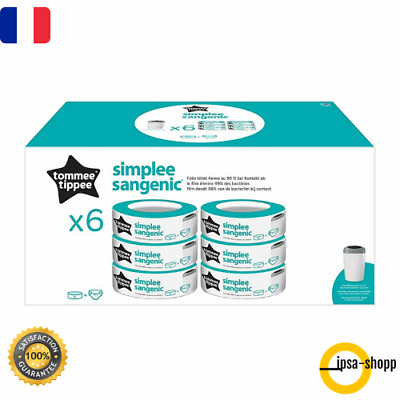 lot 6 Recharges poubelle Couches Bac  Sangenic Tec Multipack 3 Tommee Tippee
