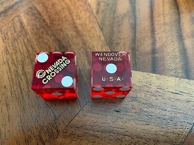 """Nevada Crossing Casino Dice Wendover Nevada Nv No Numbers Cancelled 11/16"""""""