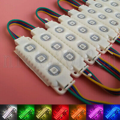 Ultra Bright 5050 RGB LED Module Light Strip Tape Colors Change ABS Waterproof
