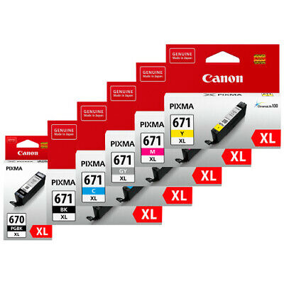 Canon 670XL / 671XL Genuine Black And Colour Ink Cartridge