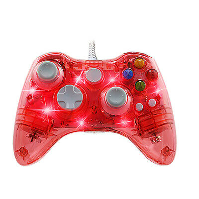 Wired Game Controller Trasparent  USB Gamepad For PC /Windows 7/8/10 Excellent