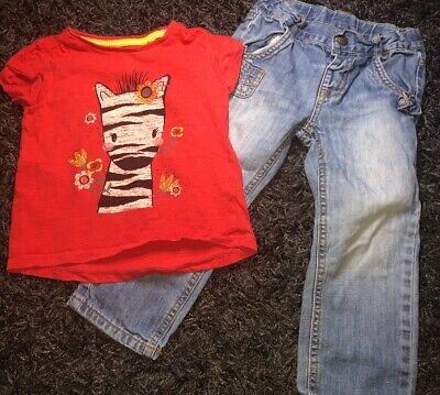 Girls Jeans And T-Shirt Outfit 2-3 Years
