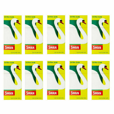 10x Swan Extra Slim Cigarette Smoking Filter Tips 120 tips per pack(1200 tips)