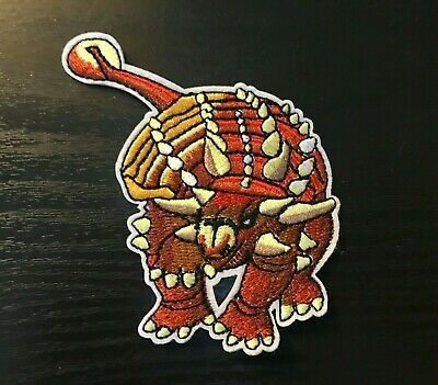 1 pcs dinosaur Embroidered iron-on/sew-on patch new around 4""