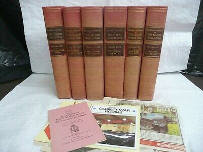 WINSTON CHURCHILL: The Second World War. CHARTWELL Editions: 6 Volumes. (S14)