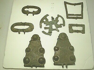 Antique   Saxon & Medieval Bronze Buckles Other Items Of Northern Europe