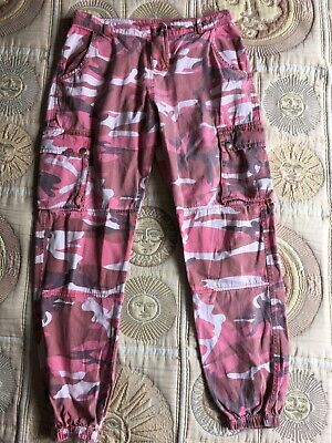 New Look 915 Generation Girls Age 14 Years Combat Trousers Red Camouflage Cotton