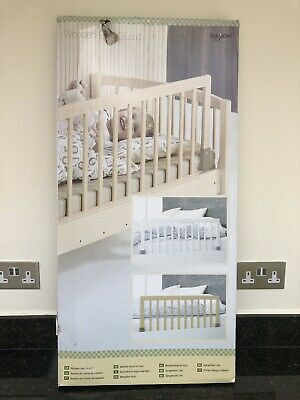 BabyDan Wooden Bed Guard Rail, White (in original box & excellent condition)