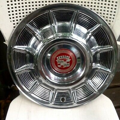 1957 Cadillac Hubcap UNMOLESTED,  OEM, with Center emblem... Ratrod favorite