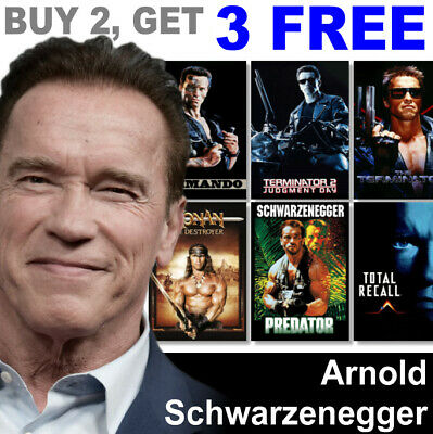 Arnold Schwarzenegger Movie Posters Poster, A4, A3 Poster, Prints, Film
