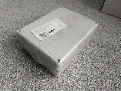 IP55 65 Grey Thermoplastic Junction Box Enclosure - 220 170 80mm