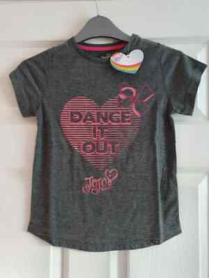 "BNWT Jojo Siwa ""Dance It Out"" Girl's T Shirt Age 7-8"