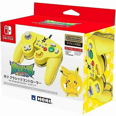 New Hori Nintendo Pikachu Pokemon Switch GameCube Classic Controller USB PC