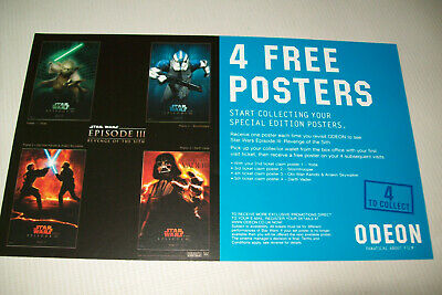 STAR WARS EPISODE III PREMIERE PROMO POSTERS X 4 ODEON (complete collection)