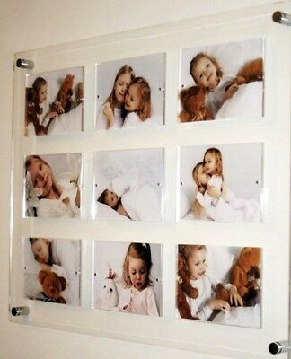 """5 x 7 """" Multi magnetic picture photo frame  7 x 5""""  all colors Cheshire acrylic"""
