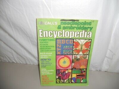 McCall's Needlepoint & Embroidery Encyclopedia 1978 a learn-by-doing book