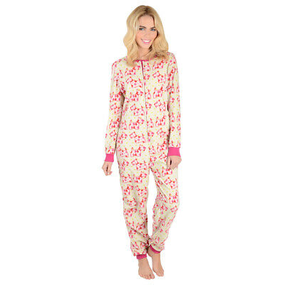 Girls / Womens  Scotty Dog Print Fleece All In One Pyjamas  Nightwear Size Xs