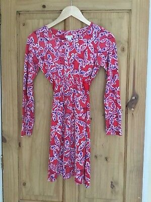 Gorgeous girls Monsoon Soft jersey dress ex cond size 11-12 years