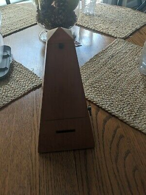 Antique Seth Thomas Maple Wood Piano Timing Pyramid Metronome WORKS 1960's