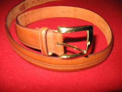 """Cole Haan, Men's Belt, Size:38""""/95Cm, Light Brown, Crafted In England, Solid Gol"""
