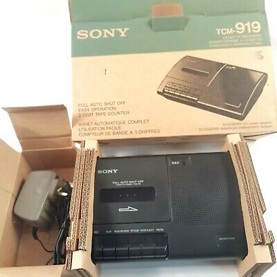 Genuine SONY TCM-919 Cassette Voice Sound Recorder Dictaphone Boxed (NO MANUAL)