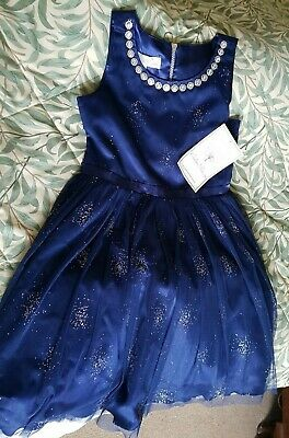Party  Dress ~ Blue ~ Sparkly ~ Floaty ~ Age 10, 11, 12 New