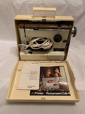 Vintage Frister Rossmann Cub 4 Sewing Machine With Case